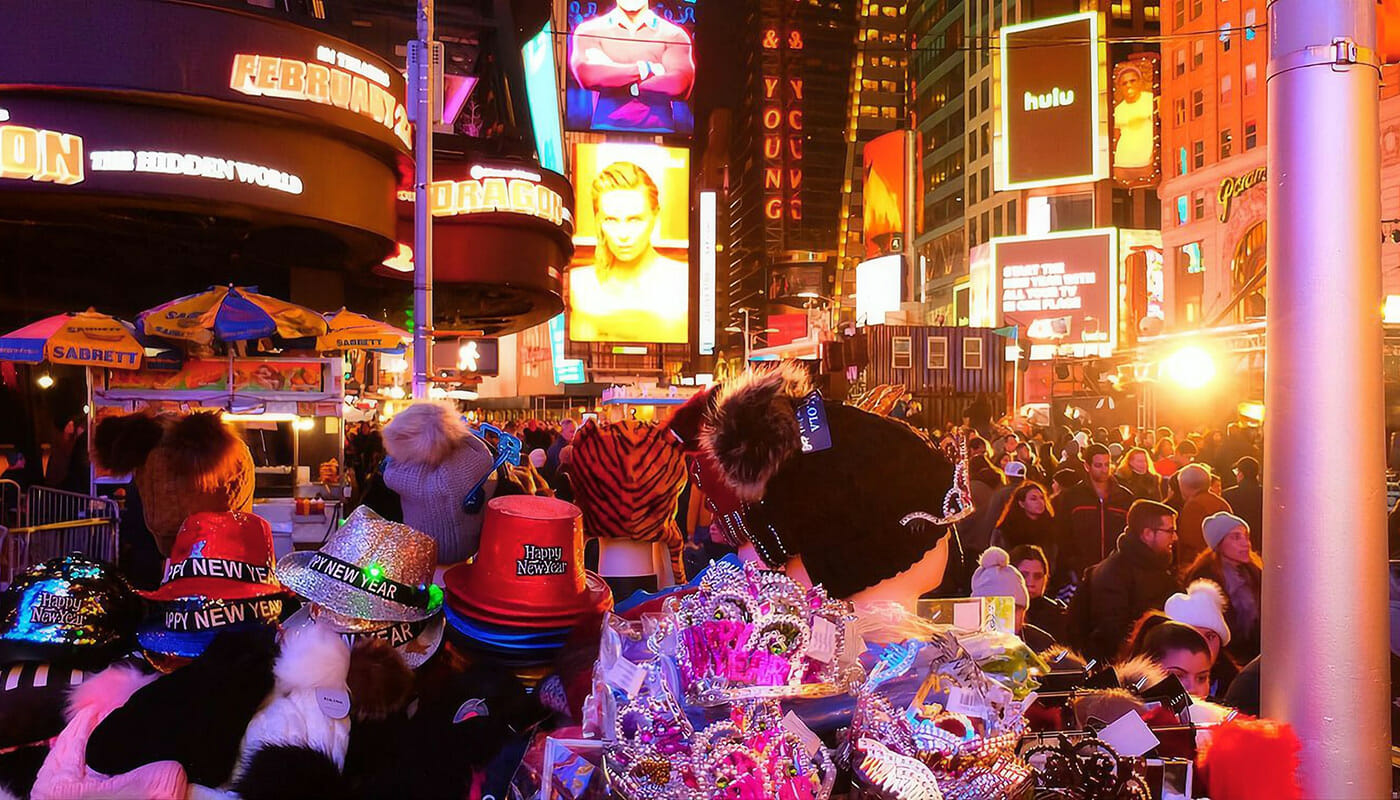 Le Reveillon du Nouvel An à New York 31-12-2019 - Decorations