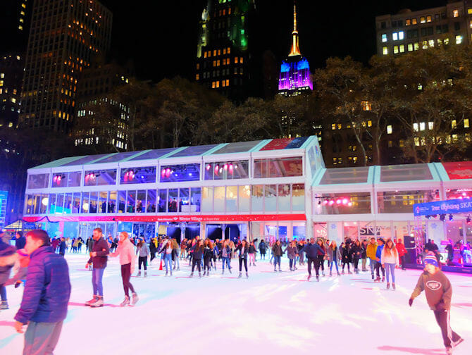 Patinoires à New York - Bryant Park2
