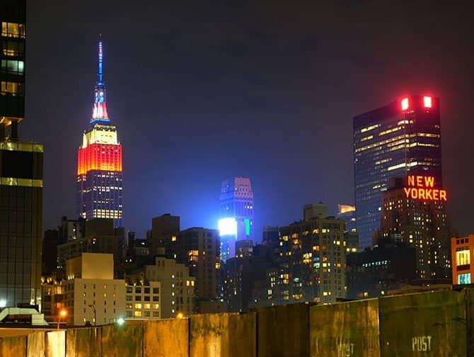 Quartier Midtown Manhattan - Empire State Building de nuit