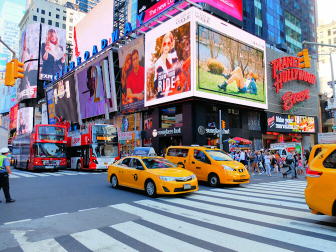 Heure de pointe à New York