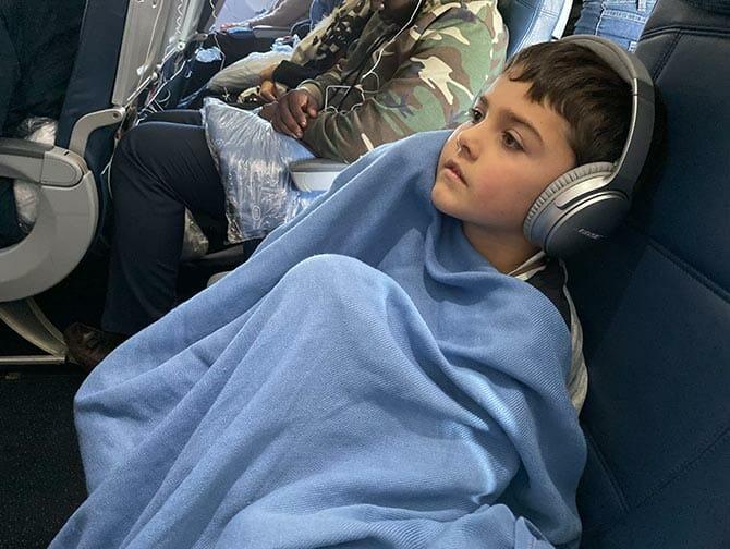 Voyager en avion a New York avec des bebes et des enfants