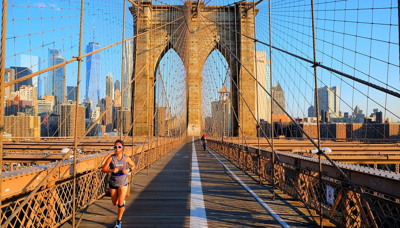 Brooklyn Bridge à New York - Course à pied