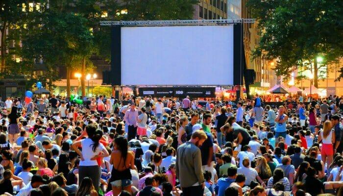 Cinéma gratuit dans Bryant Park - Cinéma en plein air
