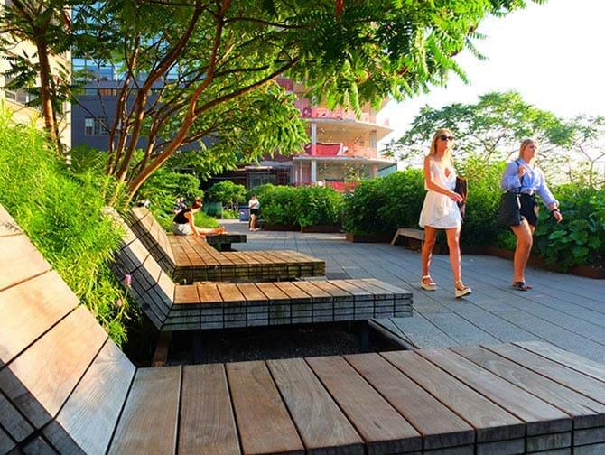 High Line Park à New York - Chaises longues
