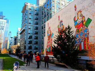 High Line Park à New York - Fresque