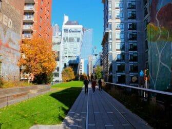 High Line Park à New York - Au milieu des buildings