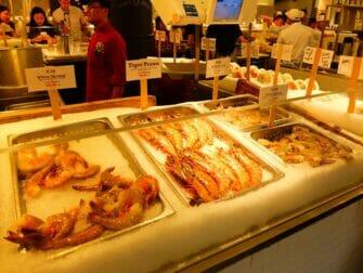 Marches a New York   Fruits de mer au Chelsea Market