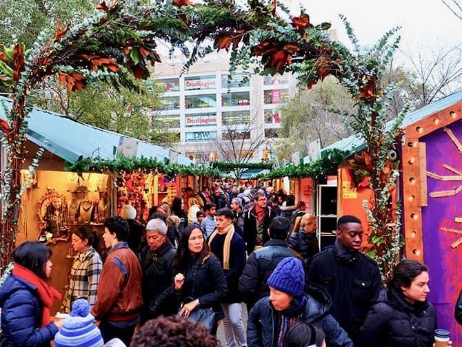 Les marchés de New York - Union Square Christmas Market