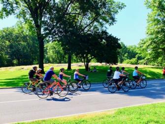 Central Park à New York - Faire du vélo