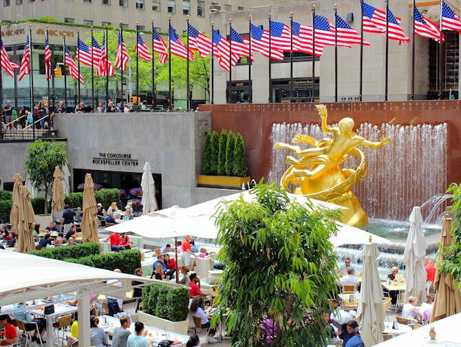 Rockefeller Center à New York - Terrasse
