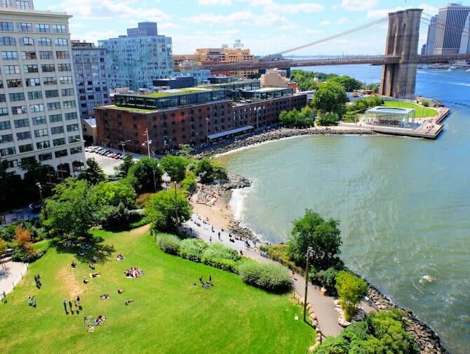 Les parcs à New York - Brooklyn Bridge Park