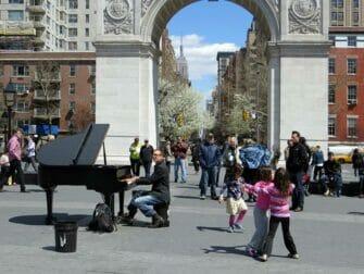 Parcs à New York - Musique en direct dans Washington Square Park