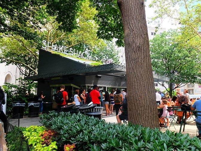 Parcs à New York - Shake Shack dans Madison Square Park