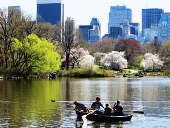 Parcs à New York - barques dans Central Park