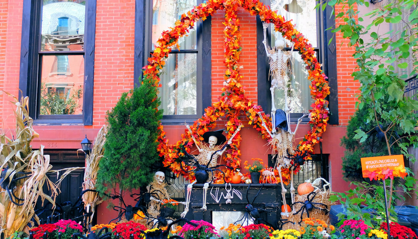 Halloween à New York - Maison Decorée