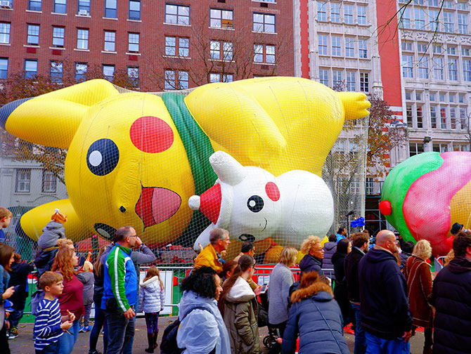 Macy's Thanksgiving Parade - Gonflage des Ballons