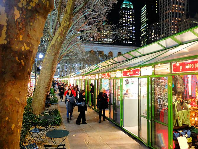 Les marchés de New York - Décorations du Bryant Park