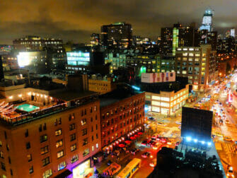 Rooftop Bars à New York - Vue depuis le Gansevoort Hotel
