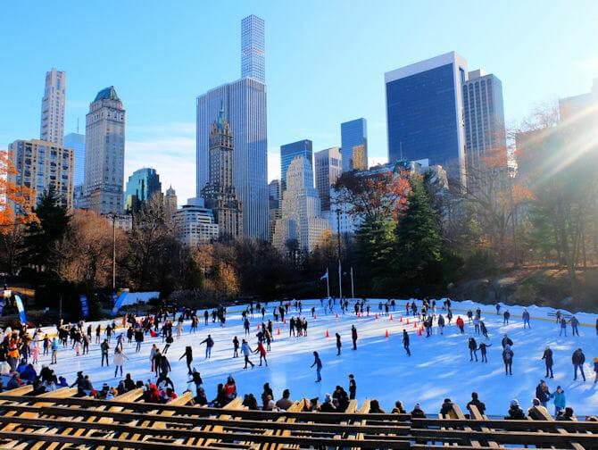 Central Park - Faire du patin à glace à Wollman Rink