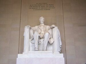 Washington lincoln memoria;