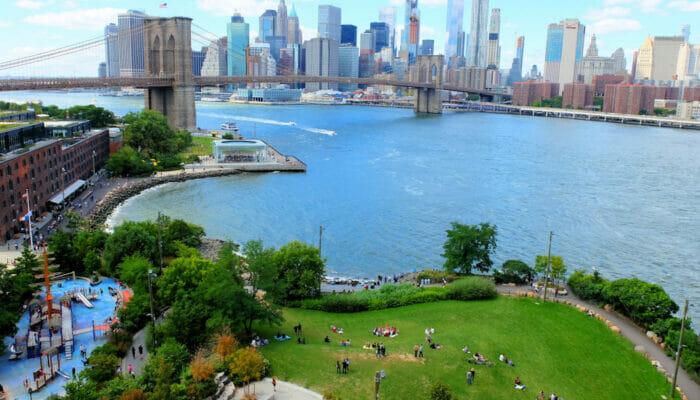 Brooklyn Bridge Park à New York - Vue aérienne