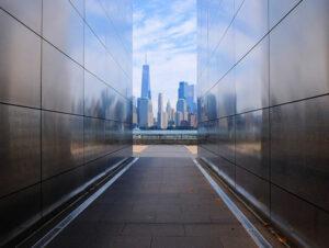 Empty Sky Memorial dans le New Jersey - Vue sur la Skyline