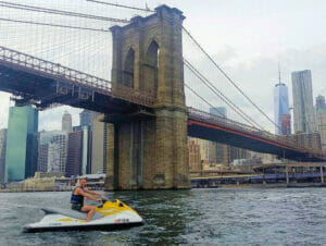 Faire du jet-ski à New York