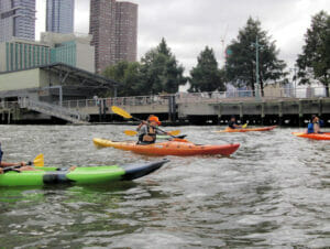 Faire du kayak à New York