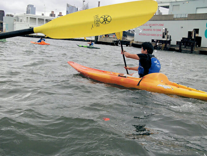 Faire du kayak à New York - Hudson River