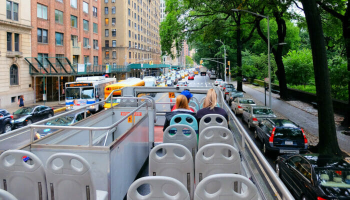 Bus touristique Gray Line à New York - Guide