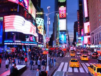 Bus touristique Gray Line a New York - Visite nocturne