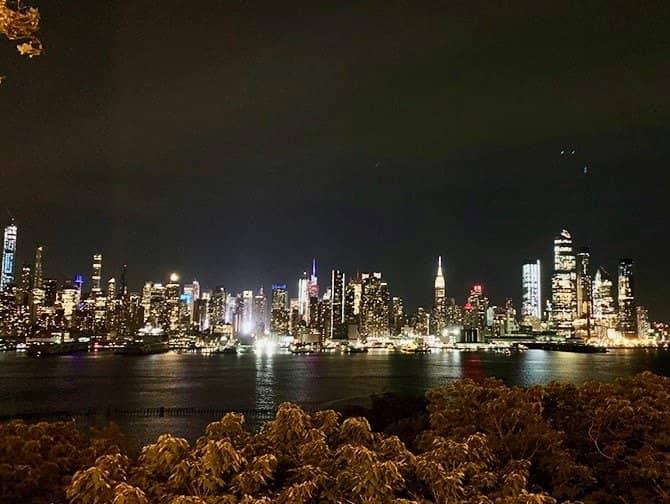 Visite nocturne de New York- Skyline depuis le New Jersey