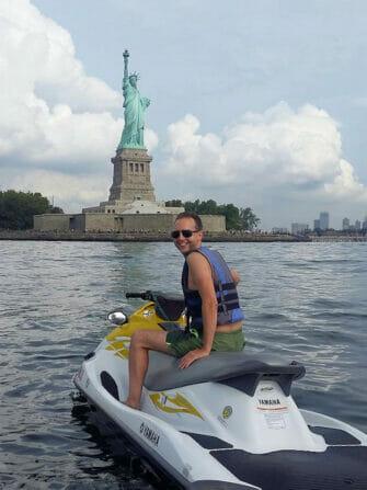 Se baigner à New York - jetski