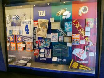 NFL Experience Times Square - Objets exposés