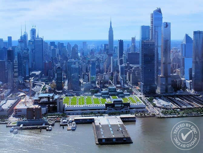 Vol en hélicoptère à New York - Au-dessus de l'Hudson