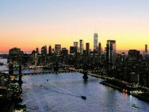 Evening Helicopter Tour and Sightseeing Cruise in New York