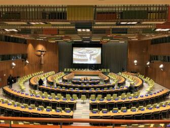 Le Siège de l'ONU à New York Trusteeship Council Chamber