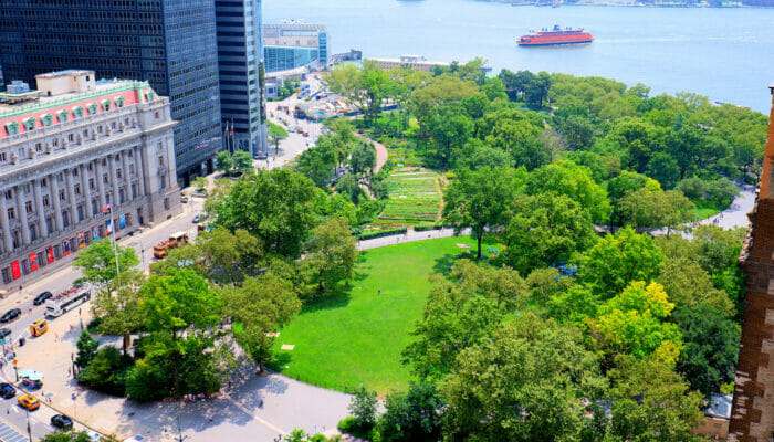 Les parcs à New York - Battery Park