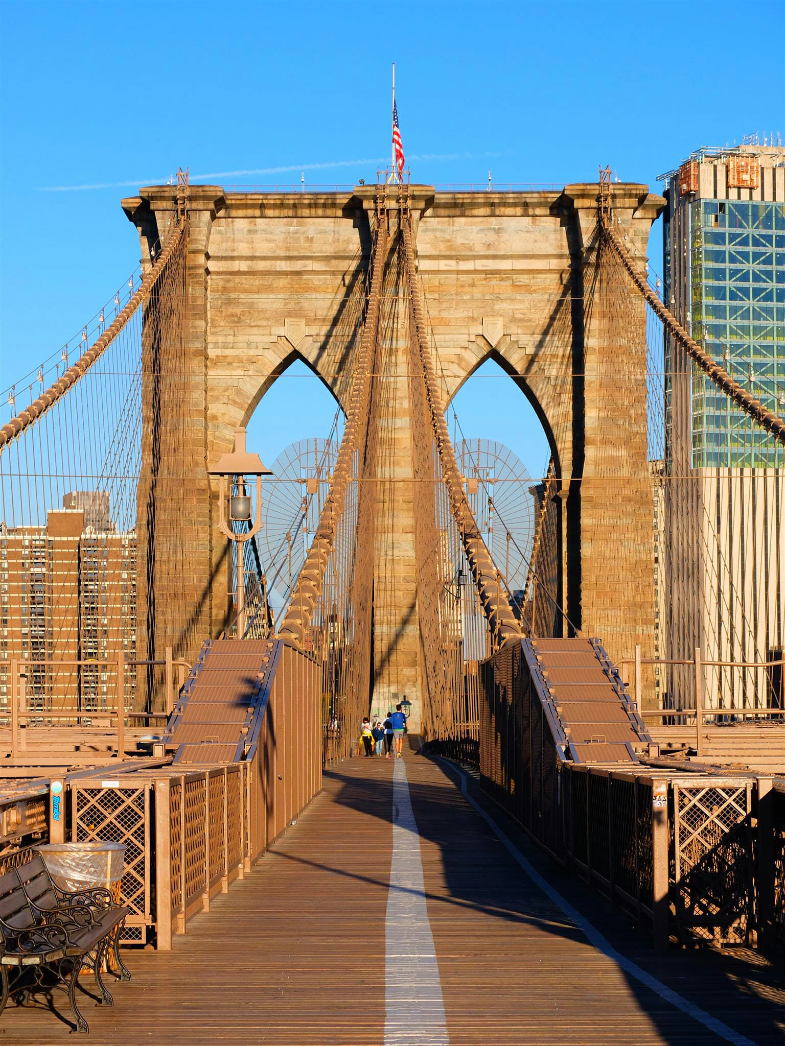 Brooklyn Bridge in New York High Quality Wallpaper