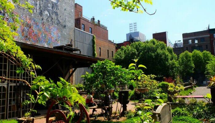Les parcs à New York - Elizabeth Street Garden