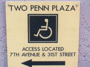Facilités pour personnes handicapées