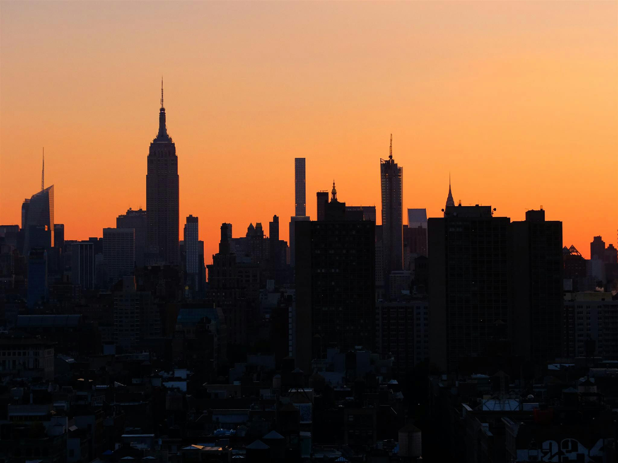 Sunrise in New York High Quality Wallpaper