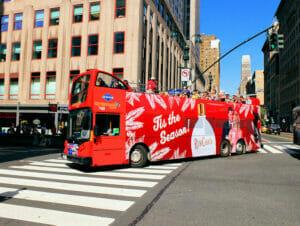 Bus touristique Gray Line à New York