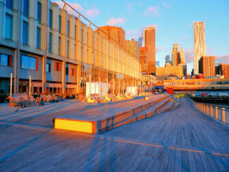 South Street Seaport a New York Lever du soleil