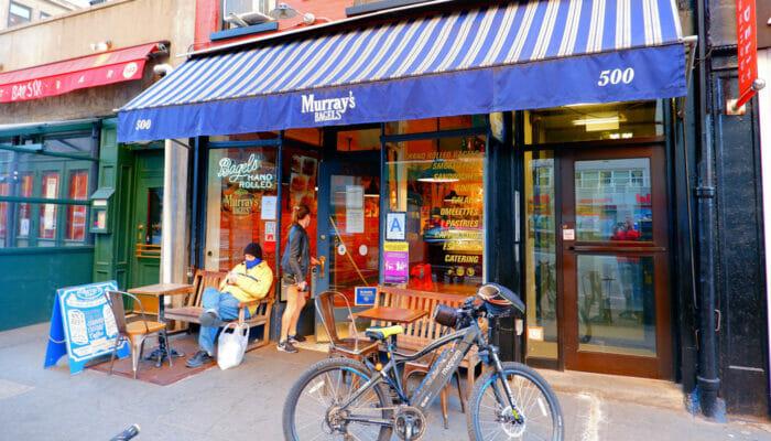 Meilleurs cafes et bagel a New York Murrays Bagels