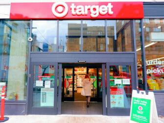 Supermarchés à New York Target New York Dehors