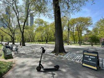 Location de trottinette electrique a New York Central Park