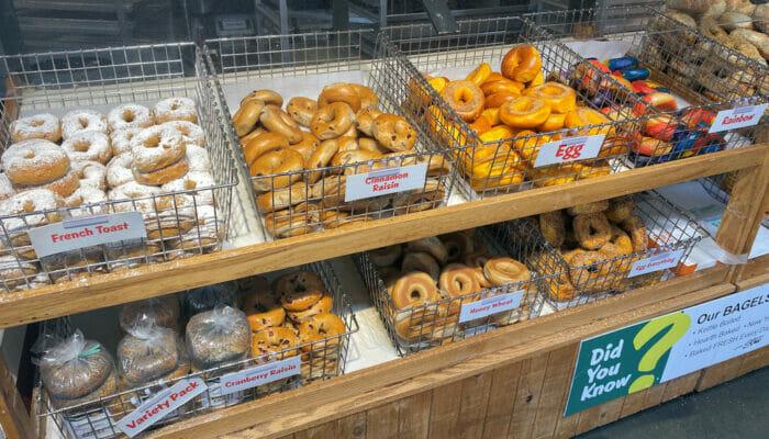 Meilleurs bagels a New York Supermarche
