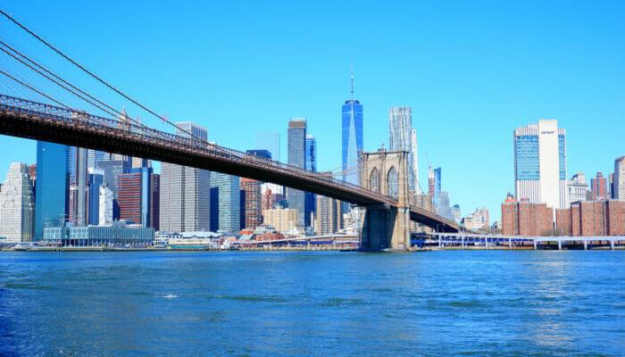 Manhattan a New York Brooklyn Bridge