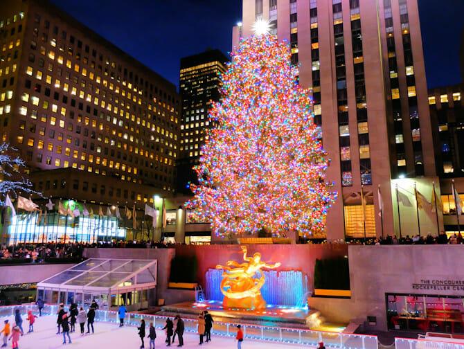 Ceremonie d illumination du sapin de Noel du Rockefeller Center